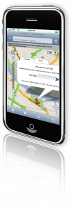 Taxi Map on iPhone
