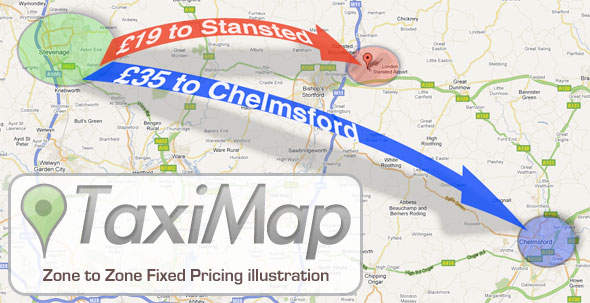 TaxiMap Zone to Zone Fixed Price Feature