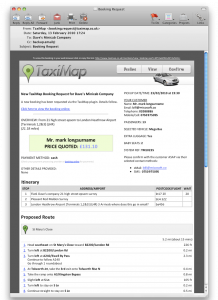 TaxiMap Taxi Booking notification