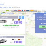 Predefined Taxi Journey Prices